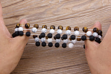 Load image into Gallery viewer, Bracelet, Modern Natural Tiger Eye & Lava Stone Beaded Bracelet
