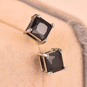 Earrings, Cute Small Silver Rainbow Crystal Double Stud Earrings For Women