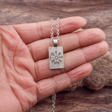 Load image into Gallery viewer, Pendant, Rune Viking Norse Symbols Pendant & Chain Necklace