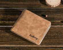 Load image into Gallery viewer, Wallet, High Quality Men Vintage Style Credit Card Holder Soft Leather Wallet