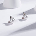Earrings, Shiny Zircon Pearl Stud Earrings