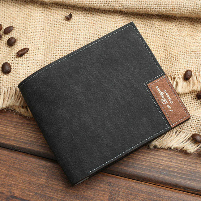 Wallet, Picture Customization Short PU Leather Wallet for Men