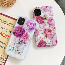 Load image into Gallery viewer, iPhone Case, Retro Flower Phone Case For iPhone 6 7 8 Soft IMD Full Body Back Cover