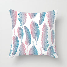Load image into Gallery viewer, Cushion Cover, Colourful Feather Style