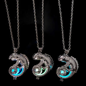 Necklace, Glow in the Dark Dragon Pendant with Chain Necklace