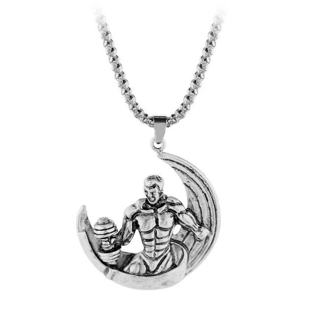 Pendant, Hot Weightlifting Pendant Fitness Necklace for Bodybuilders