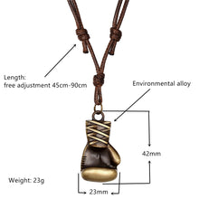 Load image into Gallery viewer, Necklace, Punk Boxing Gloves & Various Designs Pendant with Leather Necklace