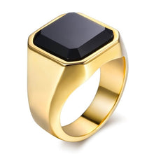 Load image into Gallery viewer, Ring, Black Carnelian Gold & Silver Ring