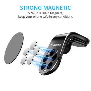 Car Mount Phone Holder, Magnetic for Air Vent