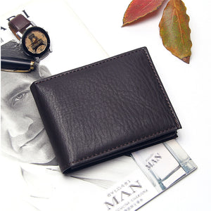 Wallet, Luxury Leather Wallet for Men with Coin Pocket Note Compartment & Photo Holder
