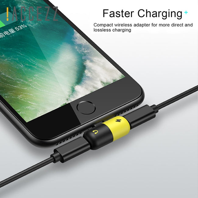 Adapter, Mobile Phone Adapter For iPhone 11 XS MAX XR and most iPhone Models for Earphone Audio & Fast Charge