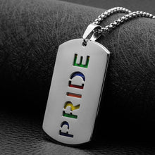 Load image into Gallery viewer, Pendant, Pride Rainbow Pendant with Chain Necklace for Love Beyond Gender