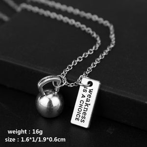 Pendant, Fitness Gym Dumbbell Pendant & Necklace for Bodybuilders