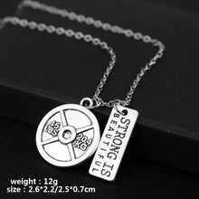 Load image into Gallery viewer, Pendant, Fitness Gym Dumbbell Pendant & Necklace for Bodybuilders