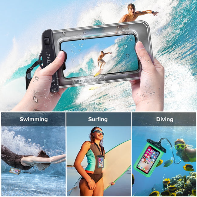 Waterproof Phone Case, Universal Waterproof Phone Case Swim Pouch Bag iPhone & Andriods