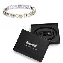 Load image into Gallery viewer, Magnetic Bracelet, Trendy Healthy Energy Hearted Design Stainless Steel Bracelet