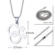 Load image into Gallery viewer, Pendant, Pride Pendant for Man Whoes Love is Beyond Gender