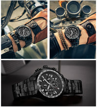 Load image into Gallery viewer, Watch, Top Luxury Black Sport Chronograph Watch for Men
