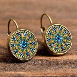 Earrings, Boho Flower Drop Vintage Earrings For Women