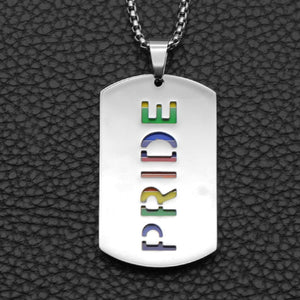 Pendant, Pride Rainbow Pendant with Chain Necklace for Love Beyond Gender
