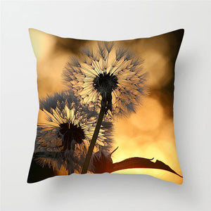 Cushion Cover,  Beautiful Flower of Rose, Dandelion etc.