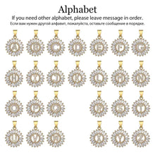 Load image into Gallery viewer, Pendant, Initial Letter Alphabet Cubic Zirconia Pendant & Chain Necklace