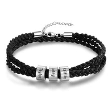 Load image into Gallery viewer, Bracelet, Personalized Beaded Stainless Steel Rope Chain Bracelet