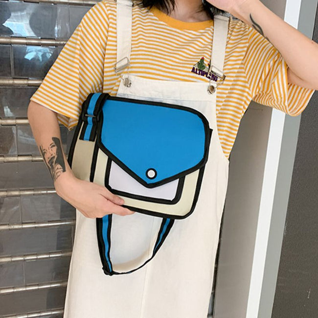 Bag, 2D Drawing Cartoon Shoulder Bag