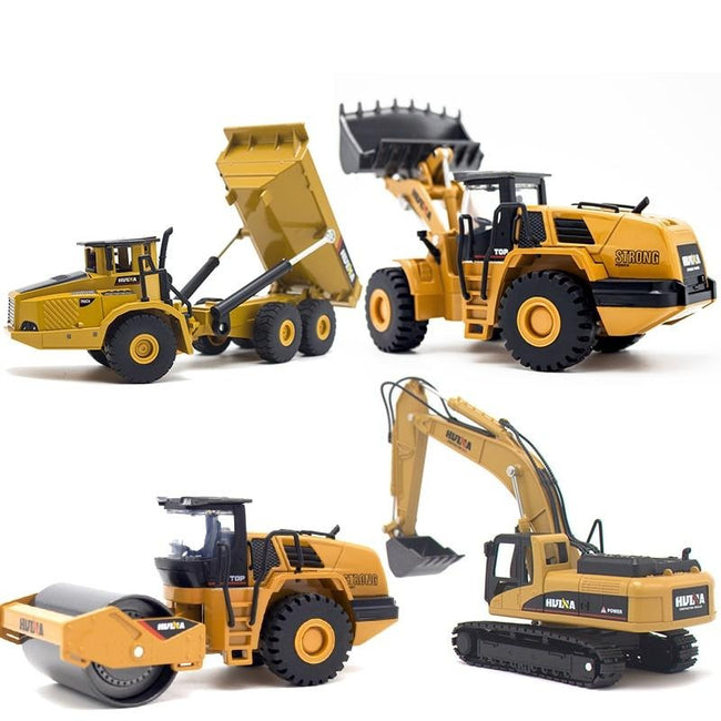 Toy,  Dump Truck Excavator Wheel Loader Construction Model Vehicle Toys for Boys