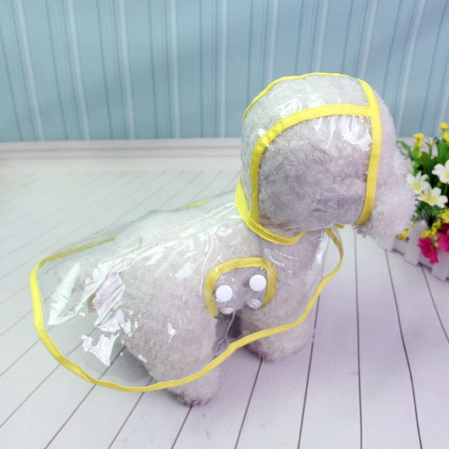 Dog Raincoat, Waterproof Transparent Raincoats for Small Size Dog