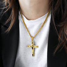 Load image into Gallery viewer, Pendant, Devout Stainless Steel Cross Pendant