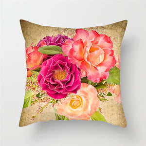 Cushion Cover, Decorative Flowers