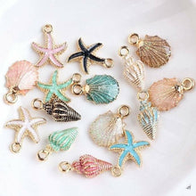 Load image into Gallery viewer, Pendant,  Sea Shell Charms Ocean Pendants  10/13Pcs