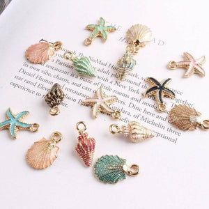 Pendant,  Sea Shell Charms Ocean Pendants  10/13Pcs