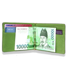 Load image into Gallery viewer, Wallet, Short Skin PU Leather Money Clips Wallet