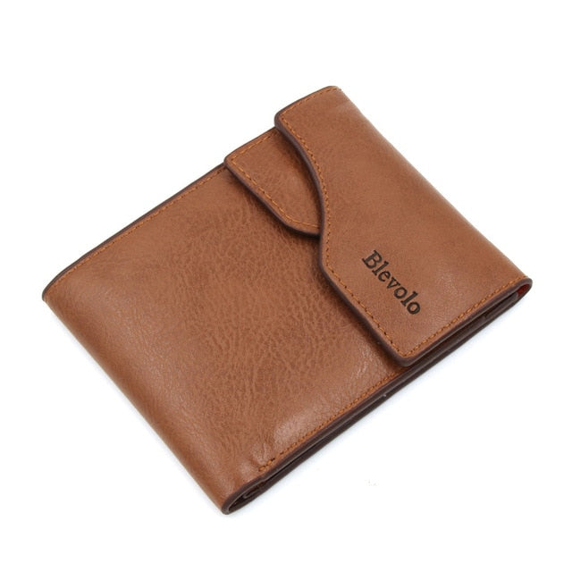 Slim Wallet, Short Skin PU Leather Money Clips Wallet