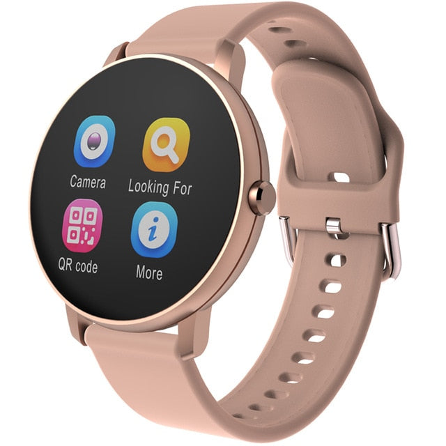 Smart Watch, Full Touch Blood Pressure Waterproof Heart Rate Tracker for Android & IOS