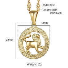 Load image into Gallery viewer, Pendant, Constellations & Zodiac with Link Chain Necklace