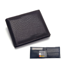 Load image into Gallery viewer, Wallet, Luxury Leather Wallet for Men with Coin Pocket Note Compartment & Photo Holder