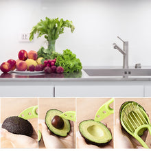 Load image into Gallery viewer, Cutter, 3 In 1 Avocado Slicer Peeler Cutter Multifunction Tools Kitchen Gadget