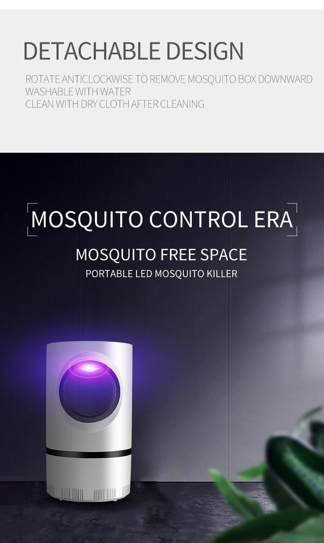 Mosquito Trap, LED UV Silent Fan Mosquito & All Flying Insects Trap