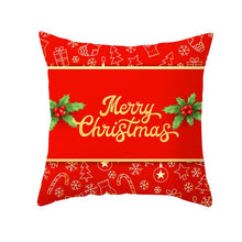 Load image into Gallery viewer, Cushion Cover, Red Printed Cushion Cover Christmas Gift Decorative Pillow Case