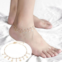 Load image into Gallery viewer, Anklet, Thin Chic Cross CZ Charm Rose Gold Anklet for Women