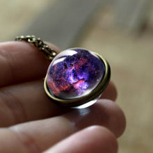 Load image into Gallery viewer, Necklace, 2020 New Nebula Galaxy Double Sided Glow In the Dark Pendant & Necklace