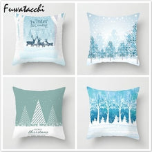 Load image into Gallery viewer, Fuwatacchi Deer Tree Pillows Cover Winter Style Cushion Cover Christmas Pillow Case Snow Throw Pillows Home Decor for Sofa Car