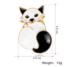 Load image into Gallery viewer, Brooch, Vintage Hedgehog Special Animal Pins Squirrel Cat Cartoon Enamel Brooch