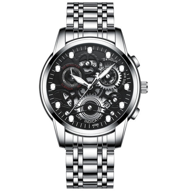 Watch, Elegant Business Waterproof Quartz Watch for Men