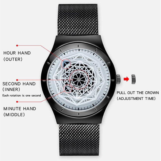 Watch, Luxury Sport Waterproof Quartz Watch for Men