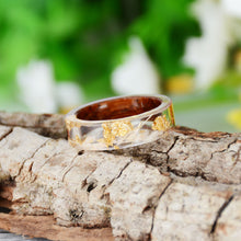 Load image into Gallery viewer, Ring, 2020 Handmade Wood Resin Transparent Ring with Dried Flowers & Plants