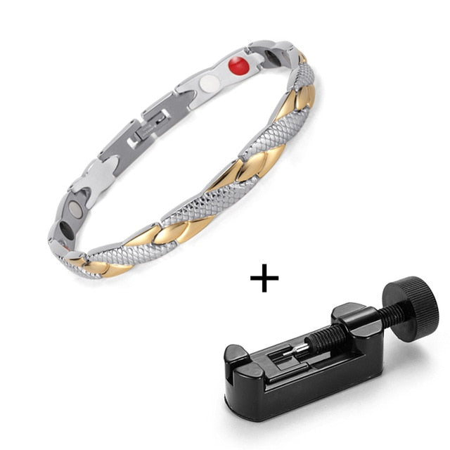 Magnetic Anklet, Trendy Stainless Steel Magnetic Germanium Anklets for Arthritis